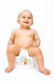 Das Schätzchen auf potty Lizenzfreies Stockbild