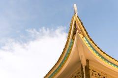 Das schöne Dach des Tempels in Vietnam stockfotografie