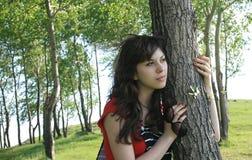Das schöne Mädchen. Lizenzfreies Stockfoto