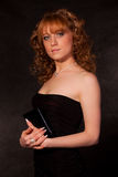 Das schöne Mädchen im Kleid Lizenzfreies Stockfoto