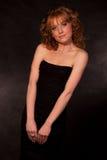 Das schöne Mädchen im Kleid Lizenzfreie Stockfotos