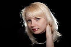Das schöne Mädchen mit Korne Lizenzfreies Stockfoto