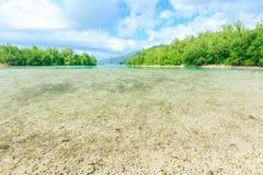 Das schöne Meer und der Erholungsort in Moorae-Insel bei Tahiti stockfoto
