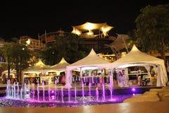 Das schöne nightview nachts pataya Lizenzfreie Stockfotos