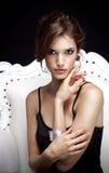Das schöne Porträt der jungen Frau Lizenzfreies Stockfoto