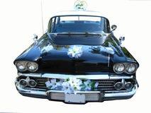 Das schöne Retro- Auto auf einem weißen Hintergrund Lizenzfreies Stockfoto