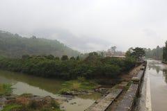 Das schöne shanchong Dorf im Regen Stockbild