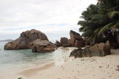 Das schönste Strand Anse-Quelld ` Argent von der Insel der La-Grabung lizenzfreie stockfotos