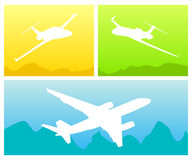Das Schattenbild der Flugzeuge Stockfotografie