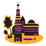 Das Schattenbild des Schlosses Lizenzfreies Stockbild