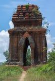 Das Schauen durch ein des Banh es Cham ragt hoch. Stockbilder
