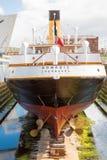 Das Schiff, das nomadische, Cherbourg stockfoto
