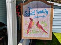 Das Schitt-Familienhaus, wie in Schitt-` s Nebenfluss gekennzeichnet stockbilder