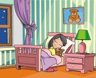 Das schlafende Mädchen Lizenzfreies Stockbild