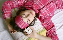 Das schlafende Mädchen. Stockbilder