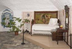 Das Schlafzimmer auf den Haus Kosaken, 19. Jahrhundert Lizenzfreie Stockfotografie