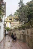 Das Schlendern durch die alten Straßen von Sevilla und heute judera Nachbarschaft nannte Santa Cruz lizenzfreie stockbilder