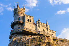 Das Schloss auf dem Felsen Stockfotografie