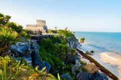 Das Schloss bei Tulum stockfotografie