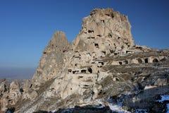 Das Schloss in Cappadocia am sonnigen Tag Stockbild