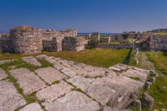 Das Schloss der Ritter von Johannes der Baptist, Kos-Insel, Griechenland Lizenzfreies Stockfoto