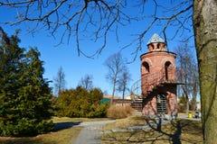 Das Schloss der rote Kinder in Pinsk stockbild