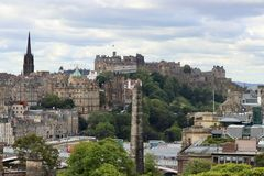 Das Schloss in Edinburgh, Schottland stockbilder