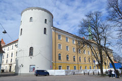 Das Schloss ist ein Wohnsitz für einen Präsidenten von Lettland (alte Stadt, von Riga, von Lettland) lizenzfreies stockbild