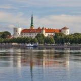 Das Schloss ist ein Wohnsitz für einen Präsidenten von Lettland (alte Stadt, von Riga, von Lettland) stockbild