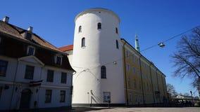 Das Schloss ist ein Wohnsitz für einen Präsidenten von Lettland (alte Stadt, von Riga, von Lettland) Lizenzfreies Stockfoto
