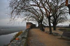 Das Schloss küsst den Fluss lizenzfreies stockbild