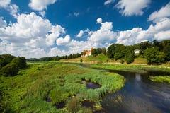 Das Schloss in Lettland Stockbild
