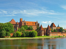 Das Schloss Malbork Stockfotos