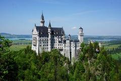 Das Schloss in Neuschwanstein Stockfotos