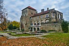 Das Schloss in Tata, Ungarn Lizenzfreie Stockbilder