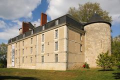 Das Schloss touren frankreich lizenzfreies stockbild