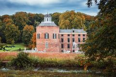 Das Schloss und der Park Rosendael gelegen in Rozendaal im Nethe Lizenzfreie Stockfotografie