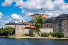 Das Schloss Vaxholm auf dem schwedischen Archipel Stockfotos