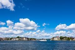 Das Schloss Vaxholm auf dem schwedischen Archipel Lizenzfreies Stockfoto