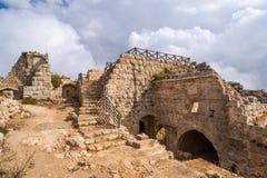 Das Schloss von Ajloun Stockbild