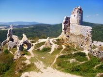 Das Schloss von Cachtice - Ruinen lizenzfreies stockfoto