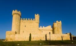 Das Schloss von Cartagena, Sasamón Olmillos, Burgos Lizenzfreie Stockfotografie