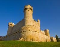 Das Schloss von Cartagena, Sasamón Olmillos, Burgos Stockbilder