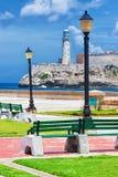Das Schloss von EL Morro, ein Symbol von Havana Stockbilder