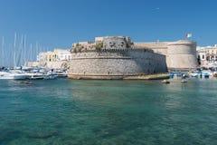 Das Schloss von Gallipoli, in Apulien stockbild