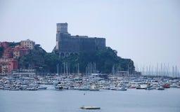 Das Schloss von Lerici lizenzfreie stockfotos