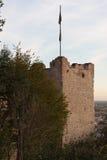 Das Schloss von Marostica Stockfotografie