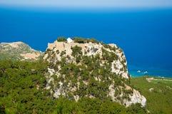 Das Schloss von Monolithos. Rhodos, Griechenland. stockfotografie
