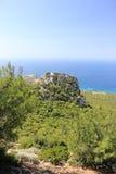 Das Schloss von Monolithos Rhodos, Griechenland Lizenzfreie Stockfotografie