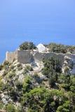 Das Schloss von Monolithos Rhodos, Griechenland Lizenzfreies Stockbild